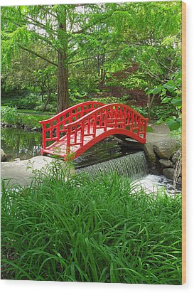 Wood Print featuring the photograph Bridge In The Woods by Rodney Campbell
