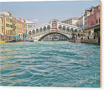 Wood Print featuring the photograph Bridge In Venice by Roberta Byram