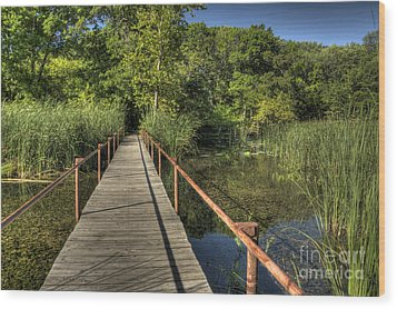 Wood Print featuring the photograph Bridge Into The Forest At Lake Murray by Tamyra Ayles
