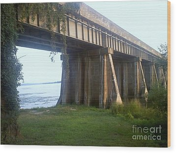 Bridge In Leesylvania Park Va Wood Print