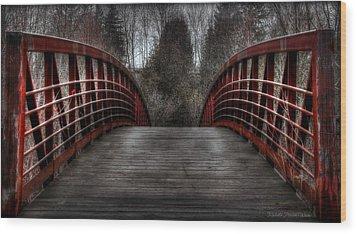 Wood Print featuring the photograph Bridge by Michaela Preston