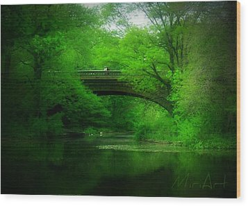 Wood Print featuring the photograph Bridge by Miriam Shaw