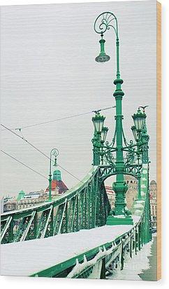Bridge Of Liberty In Budapest Wood Print