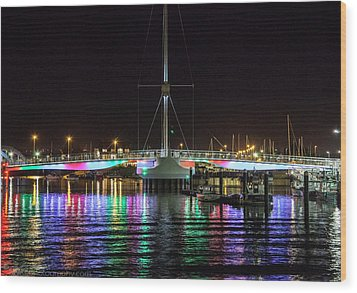 Bridge Of Lights Wood Print by Beverly Cash