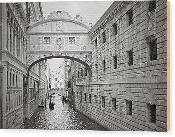 Bridge Of Sighs 5346-2 Wood Print by Marco Missiaja