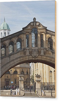 Bridge Of Sighs Oxford Wood Print