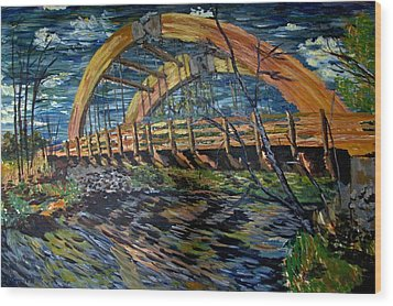 Bridge On County Rd. 27 Wood Print by Denny Morreale