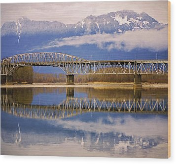 Wood Print featuring the photograph Bridge Over Calm Waters by Jordan Blackstone