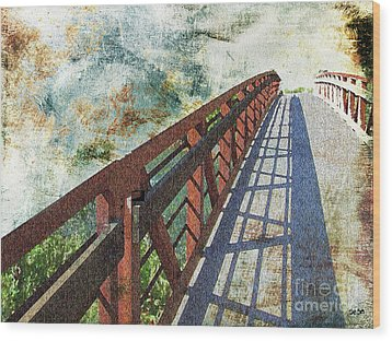 Bridge Over Clouds Wood Print