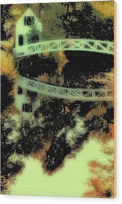 Bridge Over The River Wood Print by Carol Kinkead