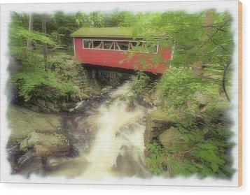 Bridge Over Troubled Water Wood Print by Karol Livote