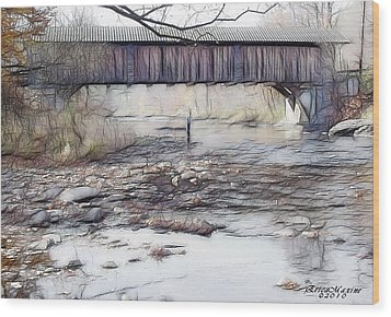 Bridge Over Troubled Waters Wood Print by EricaMaxine  Price