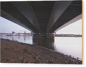 Wood Print featuring the photograph Bridge Over Wexford Harbour by Ian Middleton