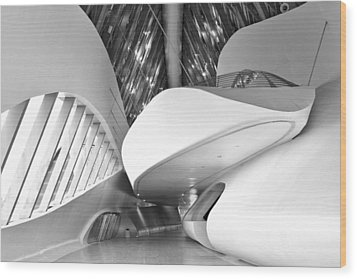Wood Print featuring the photograph Bridge Pavilion Zaragoza by Marek Stepan