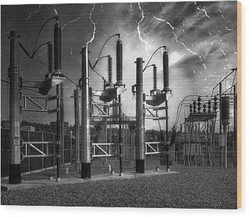 Bridge St Power Substation 2 - Spokane Washington Wood Print by Daniel Hagerman