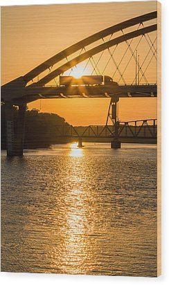 Bridge Sunrise 2 Wood Print