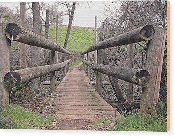 Bridge To E Wood Print by M Ryan