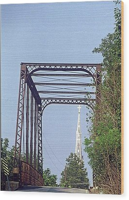 Wood Print featuring the photograph Bridge To God by Gary Wonning