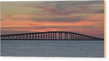 Bridge To Hatteras Wood Print