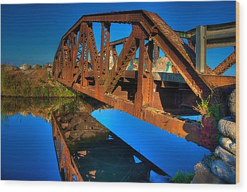 Bridge To Yesterday Wood Print by William Wetmore