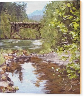 Bridge View Wood Print
