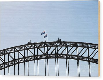 Wood Print featuring the photograph Bridge Walk by Stephen Mitchell