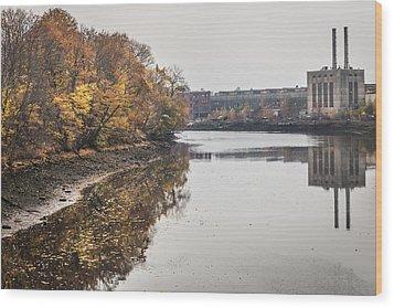 Bridgeport Factory Wood Print by Lora Lee Chapman
