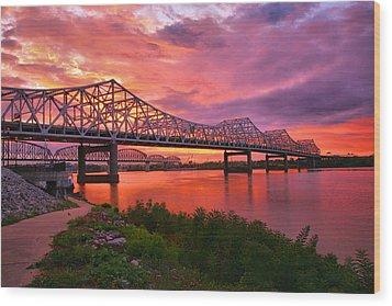Bridges At Sunrise II Wood Print