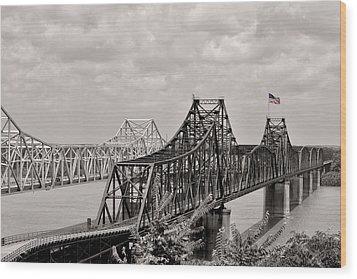 Bridges At Vicksburg Mississippi Wood Print by Don Spenner