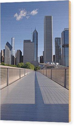 Bridgeway To Chicago Wood Print by Steve Gadomski