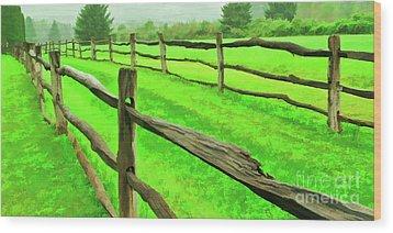 Bridle Trail Wood Print