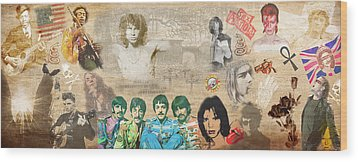 Brief History Of Rock'n'roll Wood Print by Stephen Walker