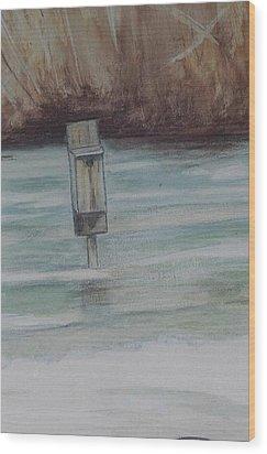 Brigham Pond Duck Box Wood Print by Debra Sandstrom