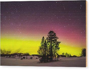 Bright Aurora Wood Print