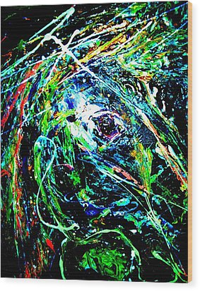 Wood Print featuring the painting Bright Eyed Night by Cody Williamson