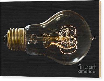 Bright Idea Wood Print by Mark Miller