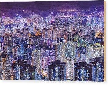 Bright Lights, Big City Wood Print
