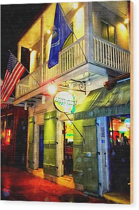 Wood Print featuring the photograph Bright Lights In The French Quarter by Glenn McCarthy Art and Photography