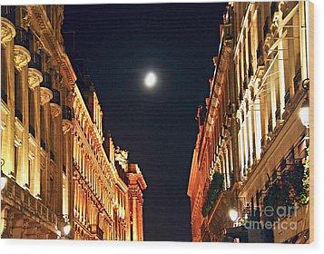 Bright Moon In Paris Wood Print by Elena Elisseeva