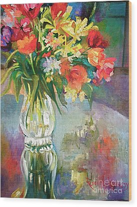 Bright Reflections Wood Print by Reveille Kennedy
