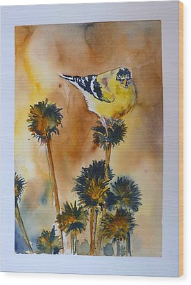 Wood Print featuring the painting Bright Spot In Winter by P Maure Bausch