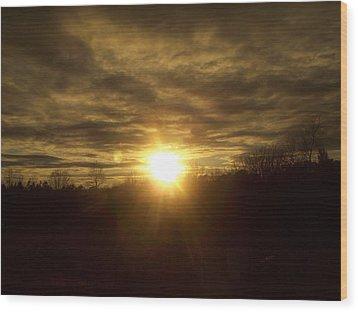Brightly Dust Wood Print