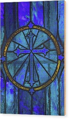 Brillant Blue Wood Print by Rowana Ray