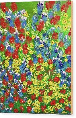 Brilliant Florals Wood Print