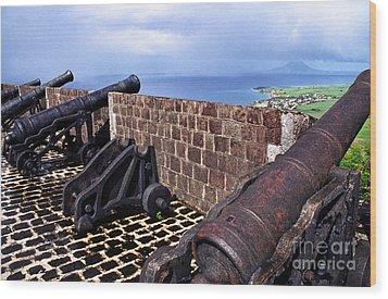 Brimstone Hill Fortress Canons Wood Print by Thomas R Fletcher