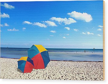 Bring The Umbrella With You Wood Print by Susanne Van Hulst