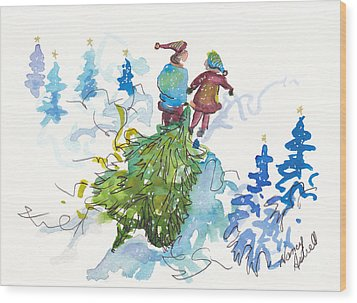 Bringing Christmas Home Again Wood Print by Michele Hollister - for Nancy Asbell
