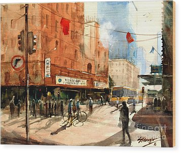 Brisbane City Early Morning Wood Print by Sof Georgiou