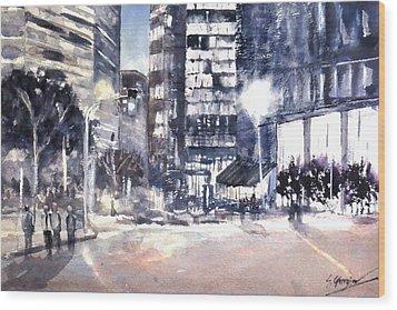Brisbane Cityscape #2 Study Wood Print