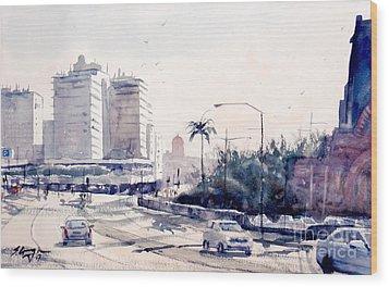 Brisbane Cityscape Wood Print